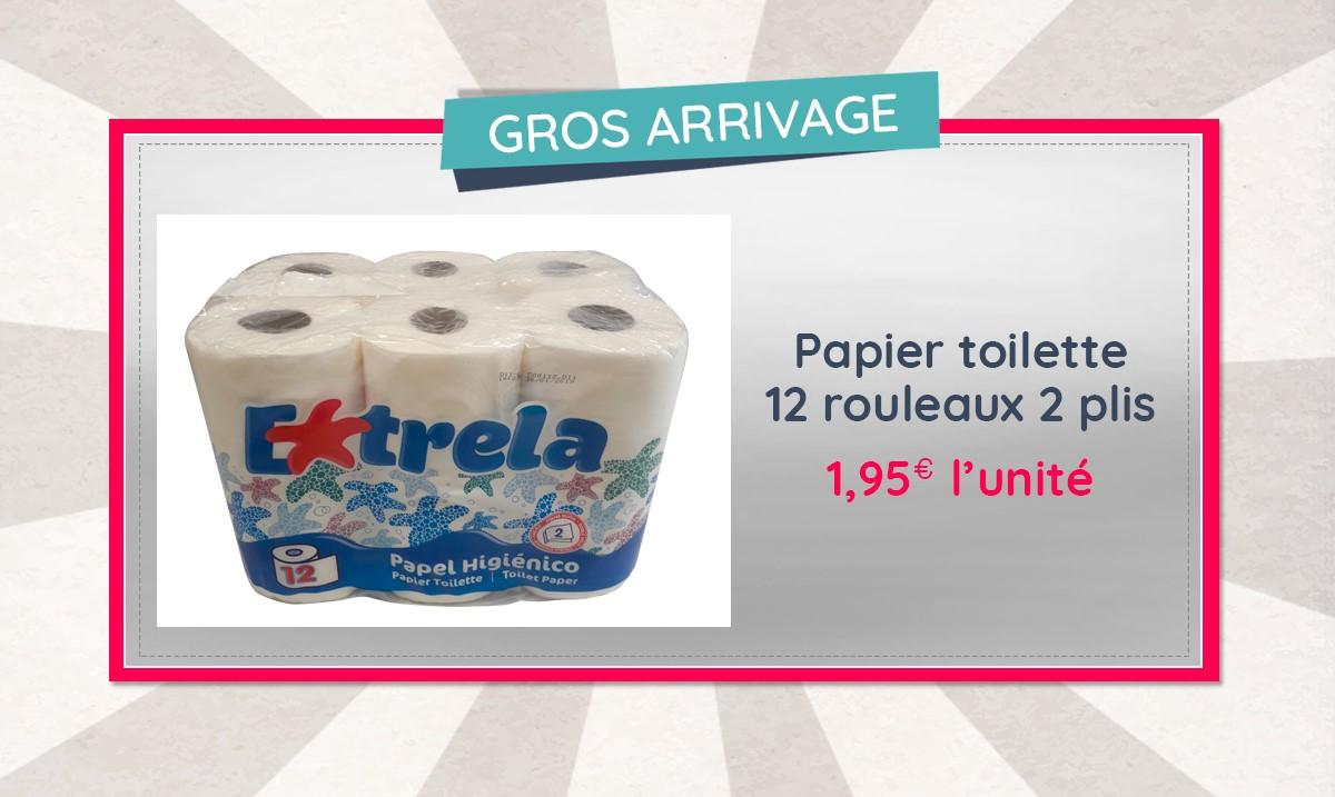 Profitez du grand arrivage de papier toilette chez Marc est content !