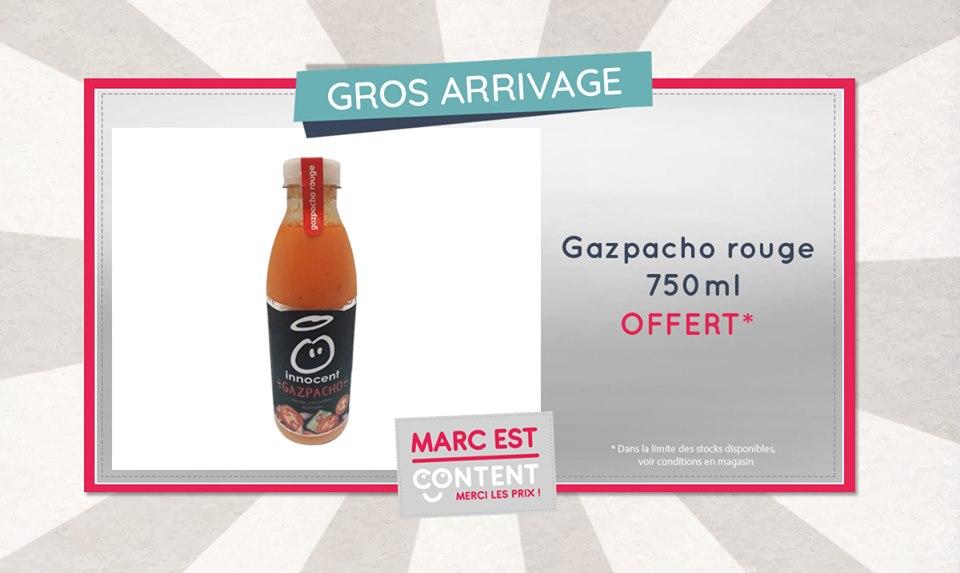 Marc est content de vous offrir une bouteille de gaspacho Innocent 750ml