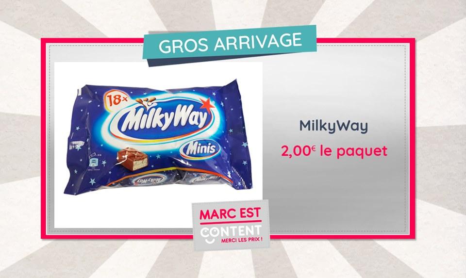Pour une pause gourmande, rien de mieux qu'une barre chocolatée MilyWay !